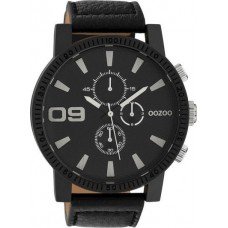 OOZOO TIMEPIECES  Black Leather Strap