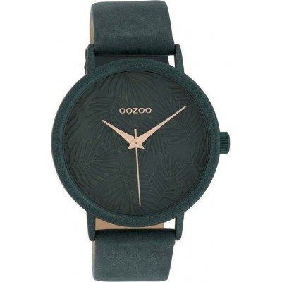 OOZOO TIMEPIECES  Dark Grey Leather Strap