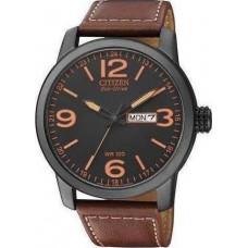 CITIZEN Eco-Drive Brown Leather Strap Chronograph BM8476_07E