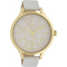 OOZOO  Timepieces White Leather Strap C10085