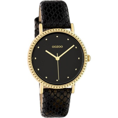 OOZOO Timepieces Black Leather Strap C10424