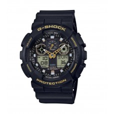CASIO G-Shock Black Rubber Strap GA-100GBX-1A9ER