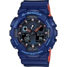CASIO G-Shock Blue Rubber Strap GA-100L-2AER