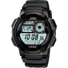 CASIO Collection Digital Black Rubber Strap AE-1000W-1BVEF