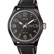 CITIZEN Eco-Drive Black Leather Strap BM8538-10E