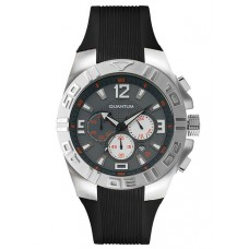 QUANTUM Discover Men's Chrono Black Rubber Strap