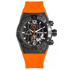 QUANTUM Discover Men's Chrono Orange Rubber Strap