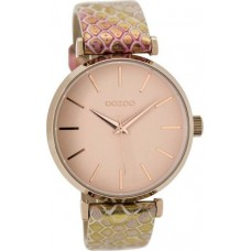 OOZOO Timepieces Gold Leather Strap