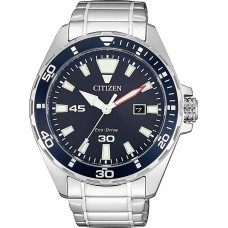 CITIZEN Eco Drive Blue Stainless Steel Bracelet BM7450-81L