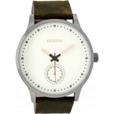 OOZOO  TIMEPIECES DARK BROWN LEATHER STRAP