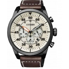 CITIZEN Eco-Drive Brown Leather Strap CA4215-04W