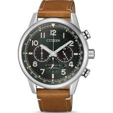 CITIZEN Eco-Drive Brown Leather Strap Chronograph CA4420-21X