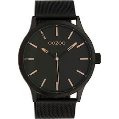 OOZOO Timepieces Black Stainless Steel Bracelet