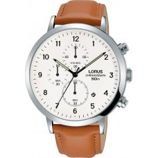 LORUS CHRONO BROWN LEATHER STRAP RM319EX9