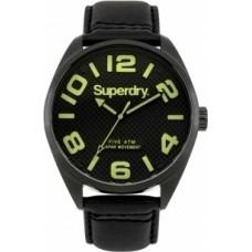Superdry Military Black Leather Strap SYG192BYA