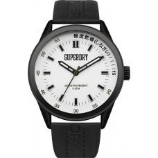 SUPERDRY Regent Corporal Black Leather Strap SYG207BB