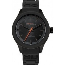 SUPERDRY Men's Scuba Deep Sea Black Rubber Strap