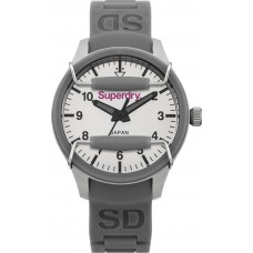 SUPERDRY Ladies Scuba  Mirror Grey Rubber Strap SYL136E