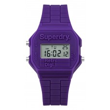 SUPERDRY Digi Retro Purple Rubber Strap SYL201V