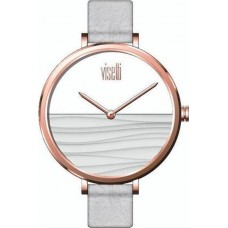 Visetti WaveRose Gold White Leather Strap PE-905RW