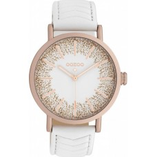 OOZOO Timepieces  C10146 White Leather Strap