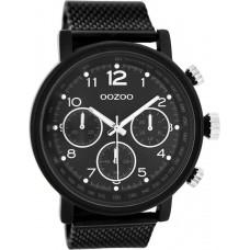 OOZOO Timepieces Black Mesh Stainless Steel Bracelet C10262