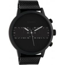 OOZOO Timepieces Black Mesh Stainless Steel Bracelet C10266