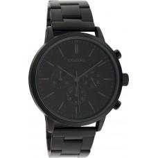 OOZOO Timepieces Black Stainless Steel Bracelet C10549