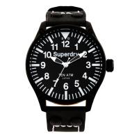SUPERDRY Aviation Black Leather Strap SYG151W
