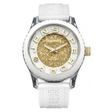 SUPERDRY Ladies Tokyo Shimmer White Rubber Strap SYL174WG