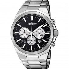 Citizen Chrono Mens Watch Silver Stainless Steel Bracelet AN8170-59E