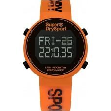 SUPERDRY Digi Pedometer Chronograph Orange Rubber Strap SYG203O