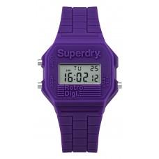 SUPERDRY Digi Retro Purple Rubber Strap SYL201V