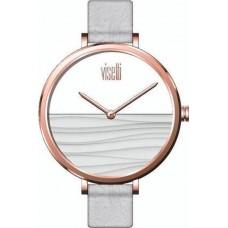 Visetti WaveRose Gold White Leather Strap PE-905RW